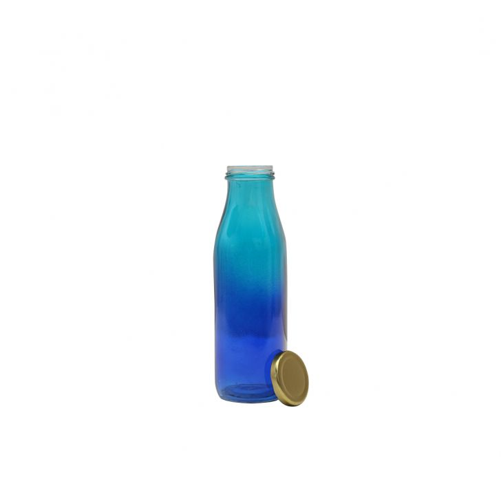 Ombre Ecctic Juice Bottle Ml Glass Glass Bottles in Blue & Teal Colour by HomeTown