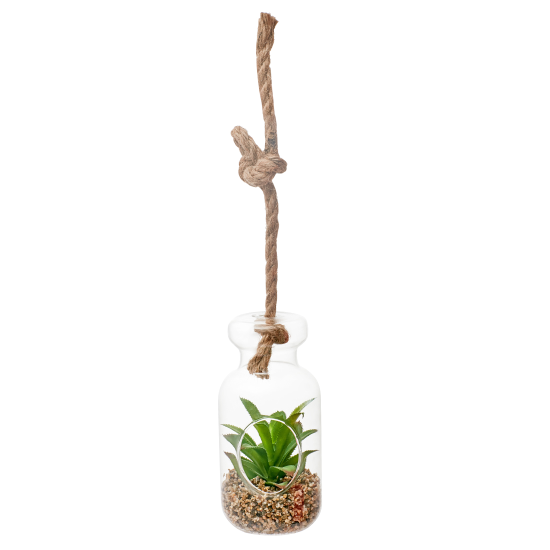 Stark Plant In Bottle Large Artificial Plants in Transparent Colour by Living Essence