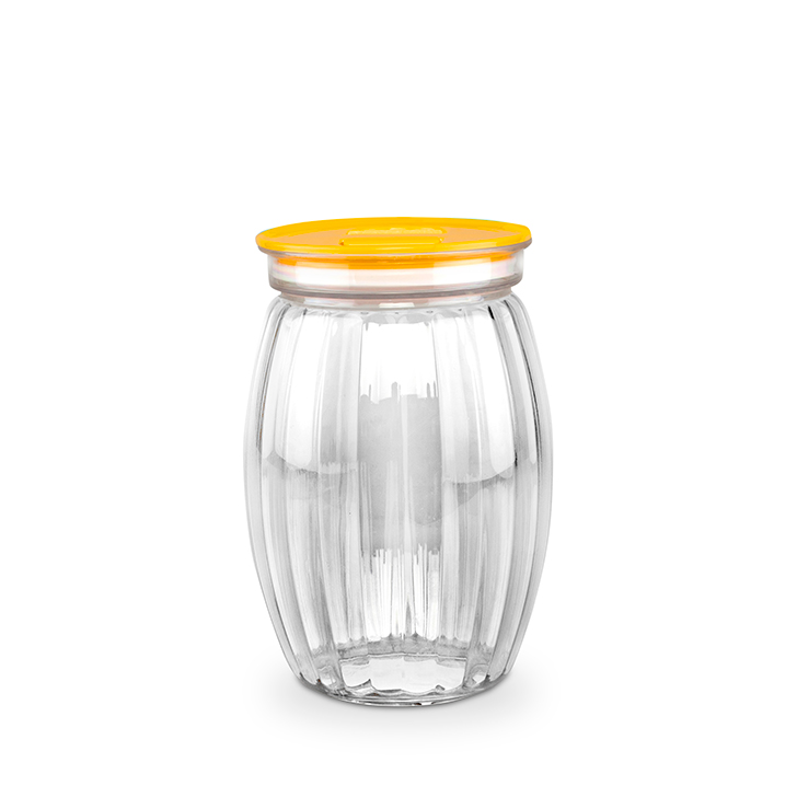 Living Essence Plastic Containers in Transparent & Yellow Colour by Living Essence