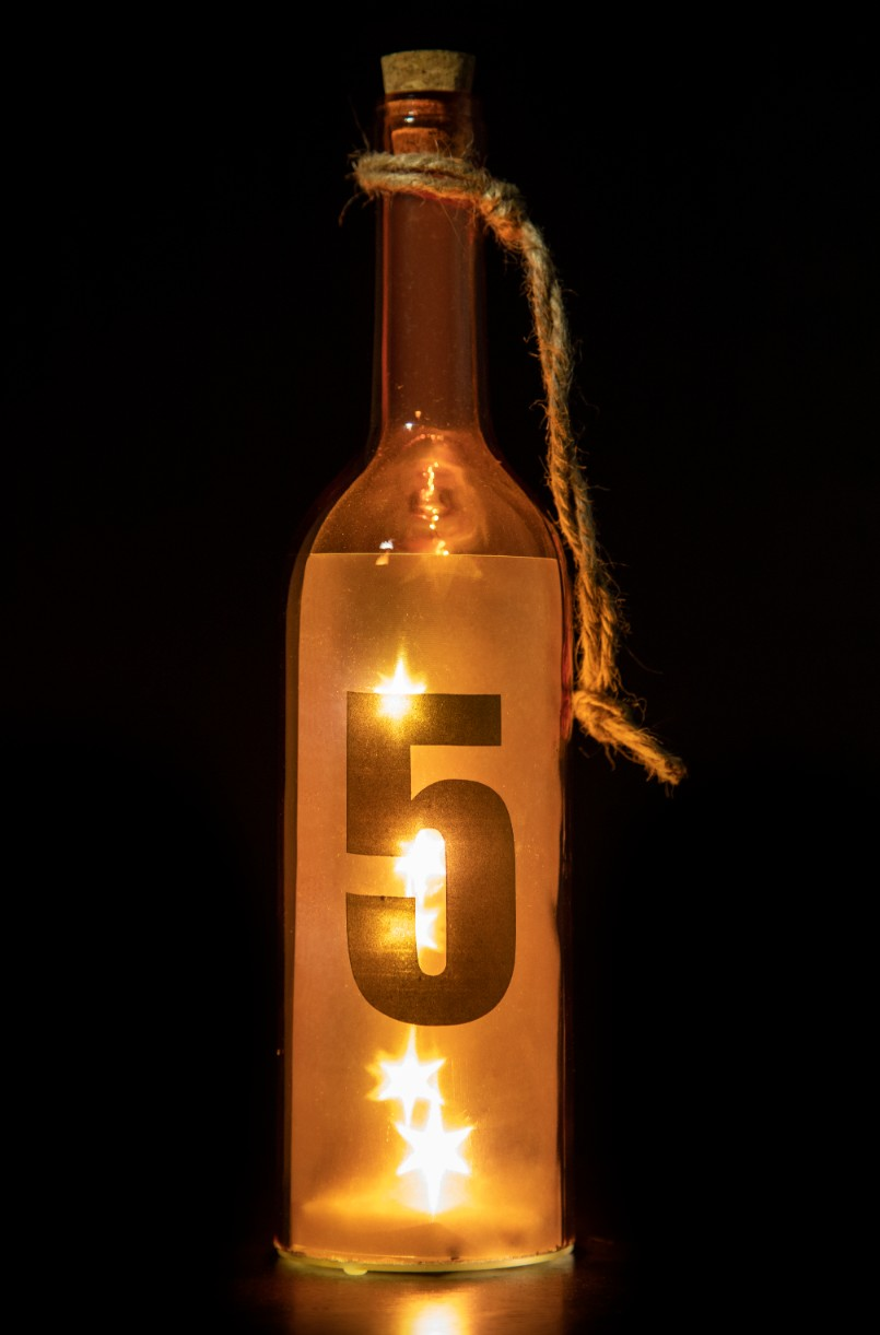 Glass Accent Lighting in Orange Colour by Living Essence