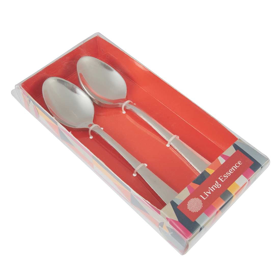 Glossy Dessert Spoon Set Of 6 Stainless steel Cutlery Sets in Steel Colour by Living Essence