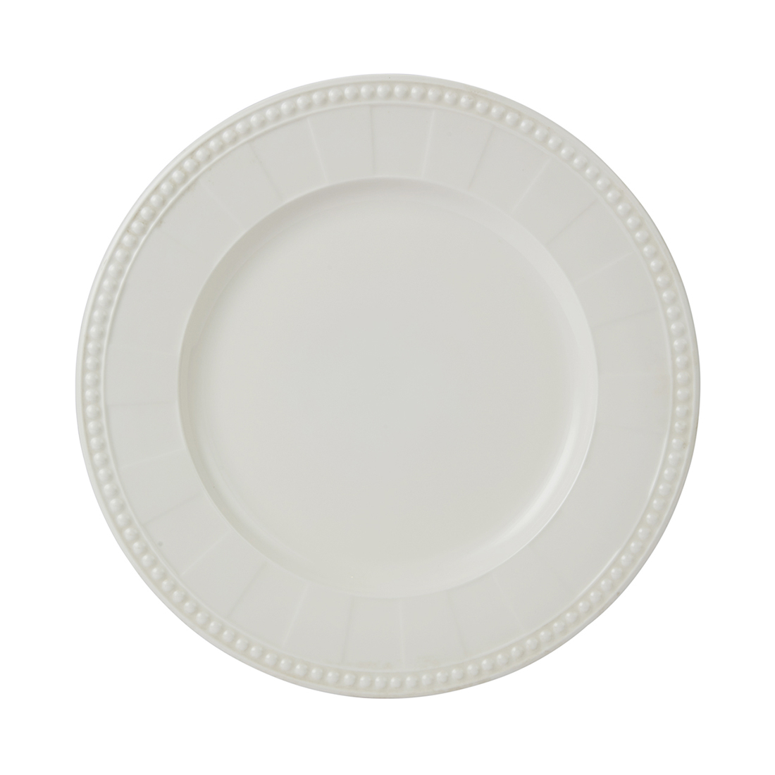 Florence Dessert Plate 21.5 Cm Ceramic Plates in White With Gold Line Colour by Living Essence