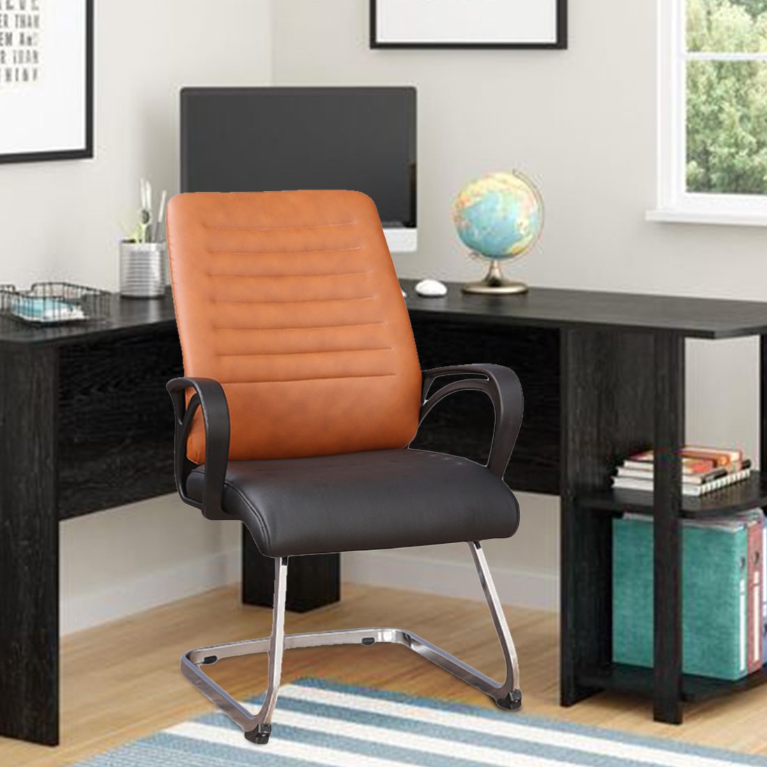Xylo Half Leather Office Chair in Dual Tone Colour by HomeTown