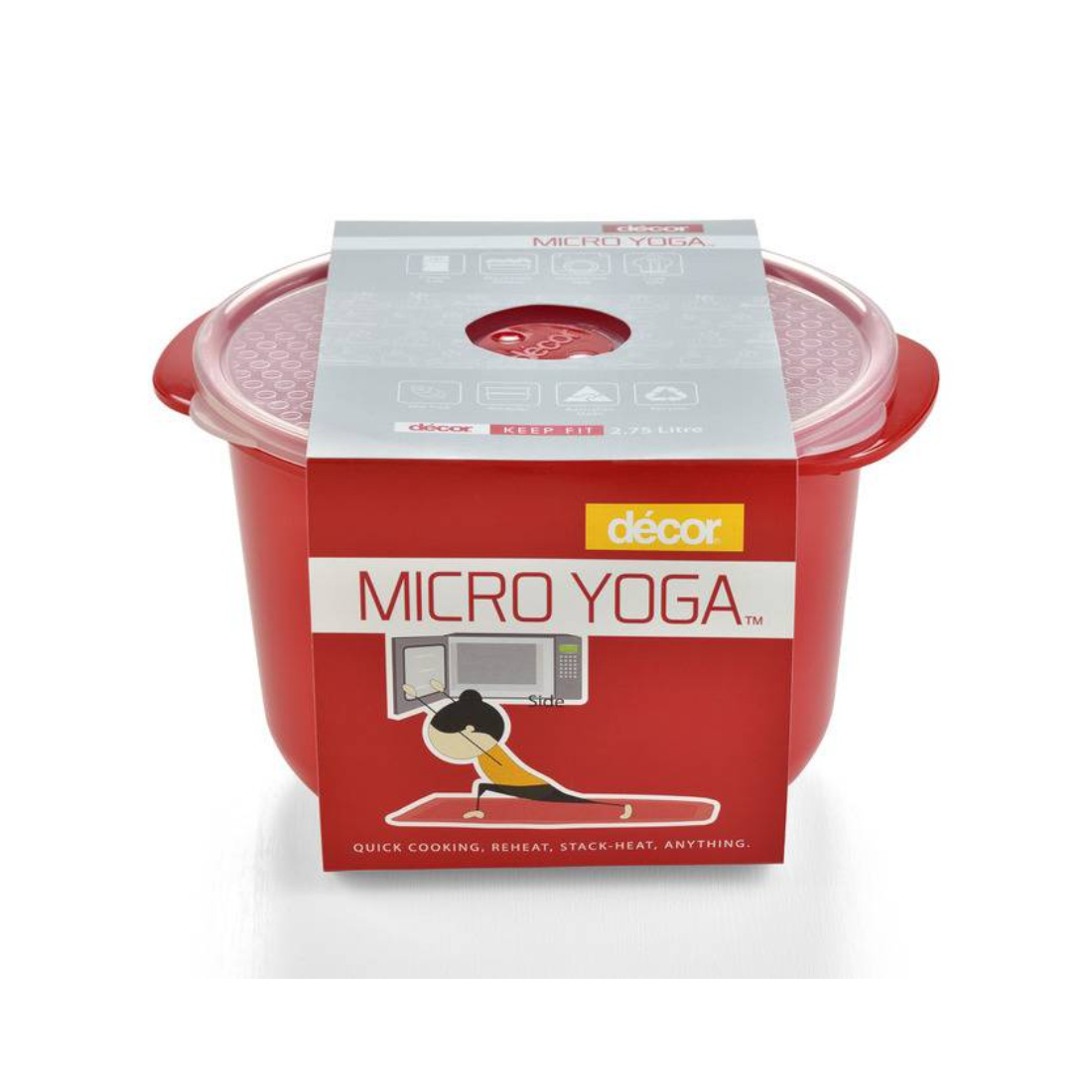 Micro Yoga Rice Cooker 2.75L Plastic Containers by Decor