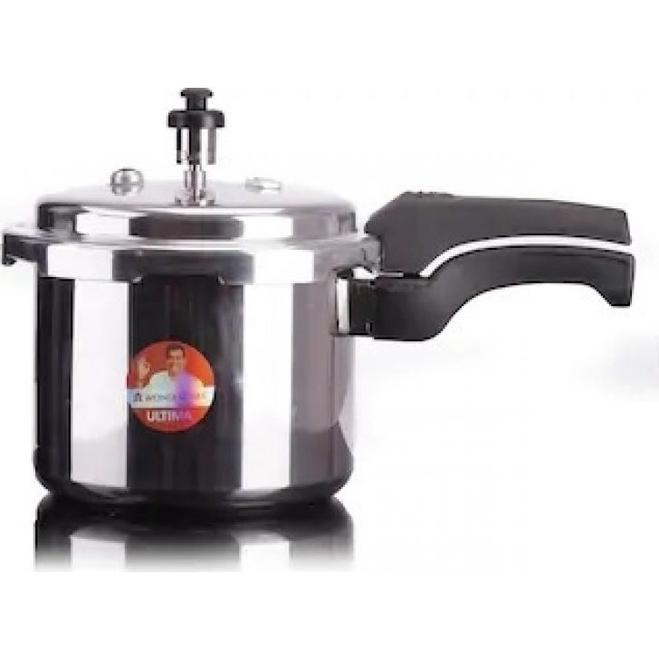 Ultima Outer Lid  3 Ltr Aluminium Pressure Cooker in Silver Colour by Wonderchef