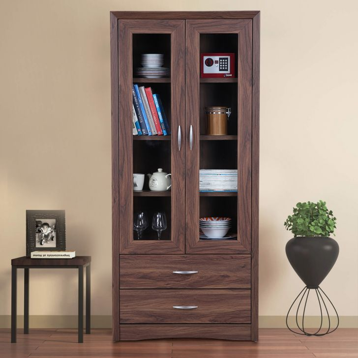 Stark Engineered Wood Large Multipurpose Cabinet in Walnut Colour by HomeTown