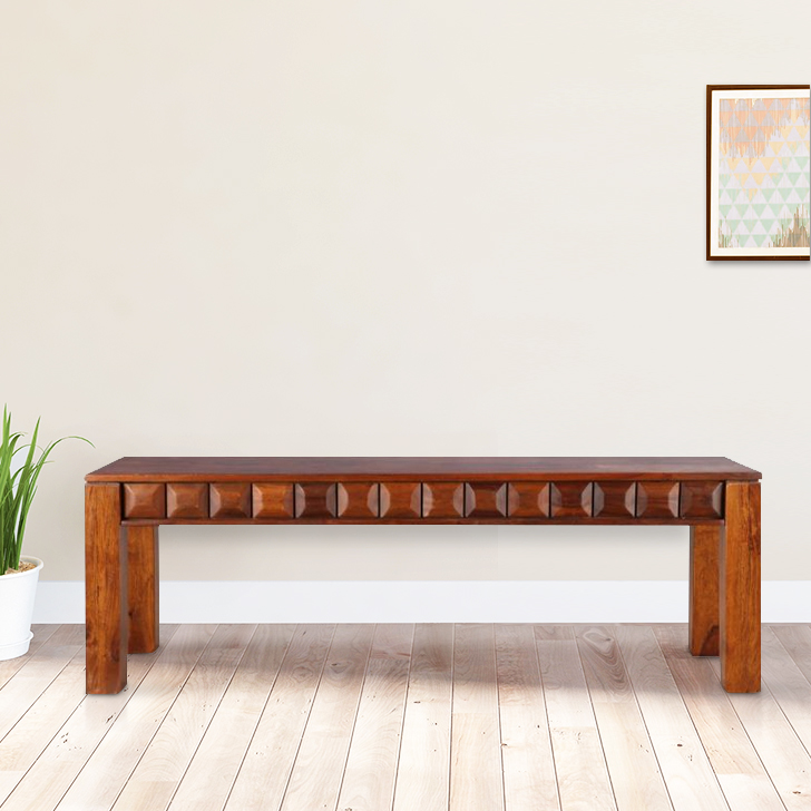 Woodrow Solid Wood Dining Bench in Honey Colour by HomeTown