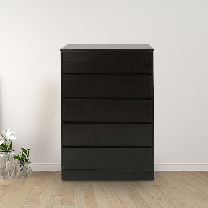 Basic Engineered Wood Chest of Drawer in Wenge Colour by HomeTown