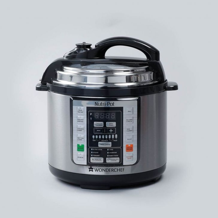 WONDERCHEF Stainless steel Electric Nutri Pot 3 Ltr in Black & Silver Colour