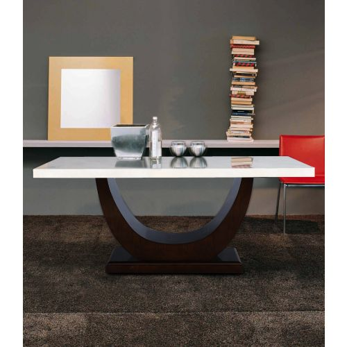 d06e64ec7d Buy Kingsley Solid Wood Marble Top Six Seater Dining Table in Ivory Colour  by HomeTown Online at Best Price - HomeTown.in