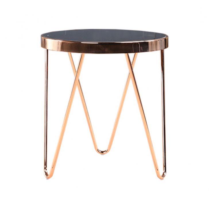 Lucas Stainless steel Outdoor Table in Black & Copper Colour by HomeTown