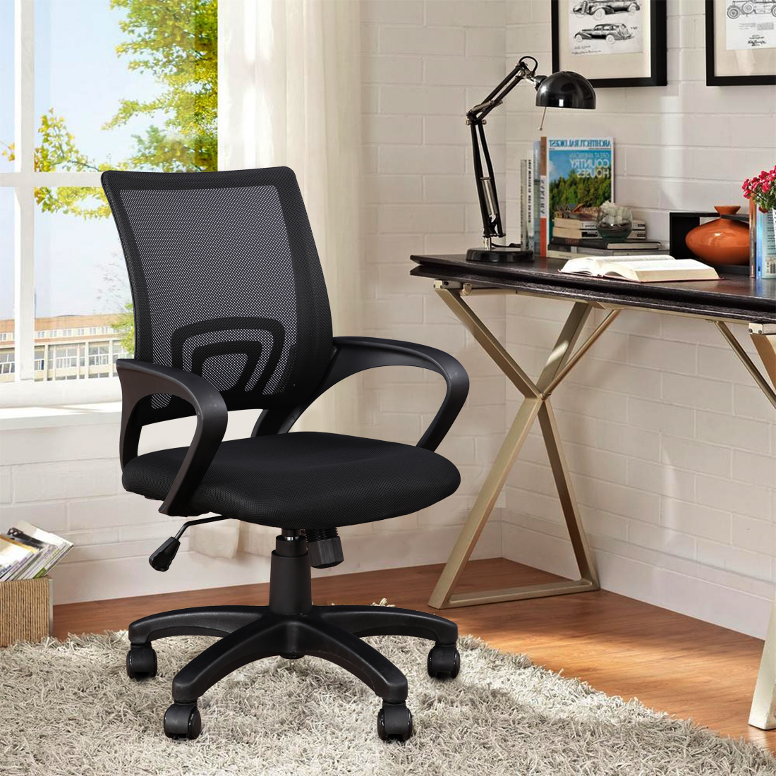 Regus Fabric Office Chair in Black Colour by HomeTown