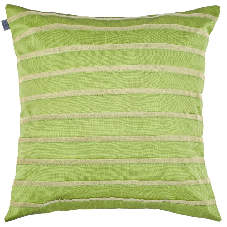Michelle Polyester Cushion Covers in Green Colour by Living Essence