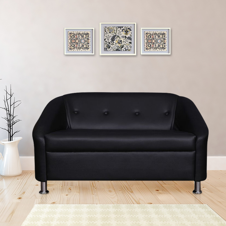 Belfast Miranty Wood Two Seater sofa in Black Colour by HomeTown
