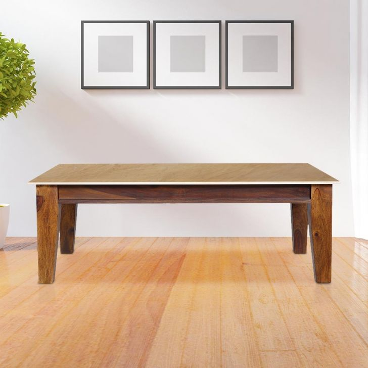 Magneto Solid Wood Center Table in Multicolor Colour