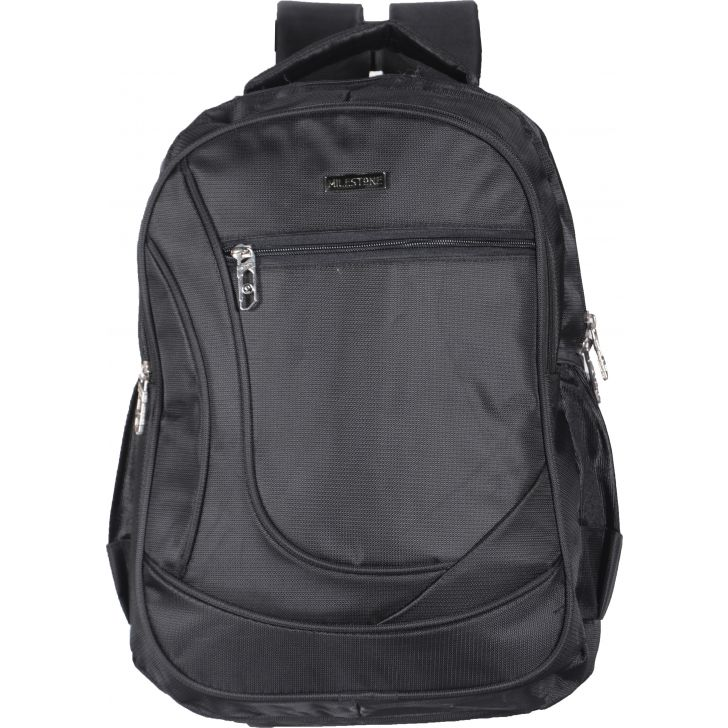 Milestone Backpack Polyester Backpack in Black Colour by MILESTONE