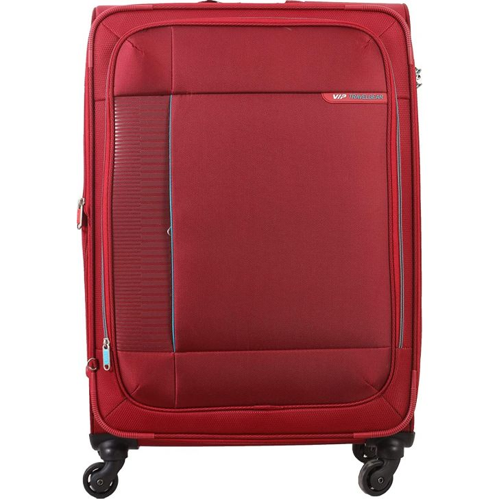 Stratis 4W exp 81 cm Polyester Soft Trolley in Red Colour by VIP