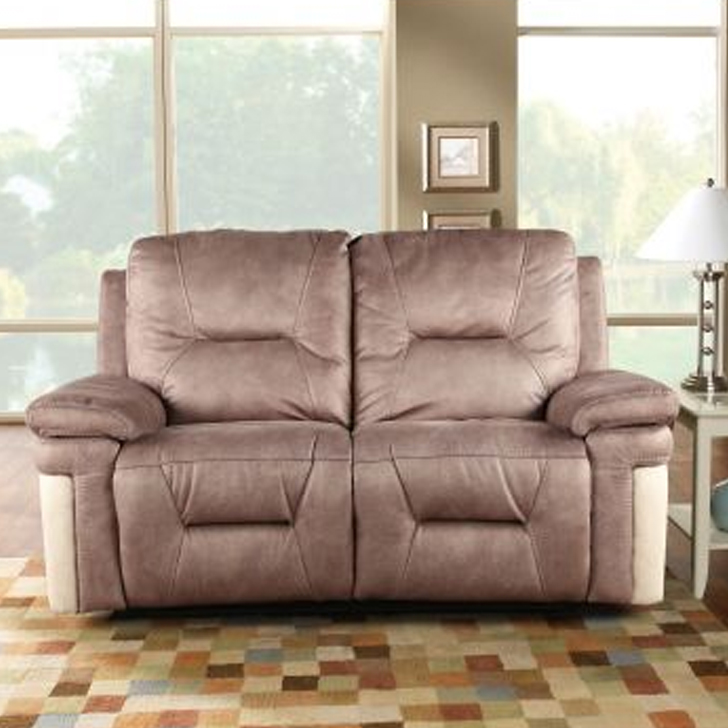Jupiter Fabric Two Seater Recliner in Brown Colour by HomeTown