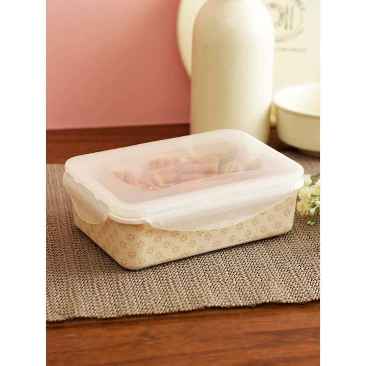 Nora Folklore Melamine Rectangle Container 800 Ml in Multi Colour by Living Essence