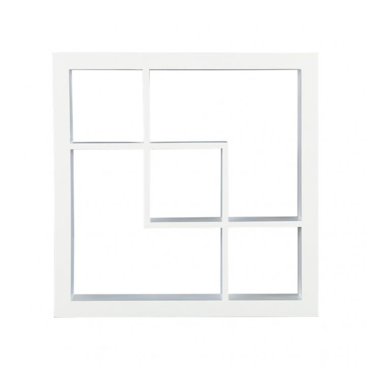 Verizon Engineered Wood Wall Shelf in White Colour by HomeTown