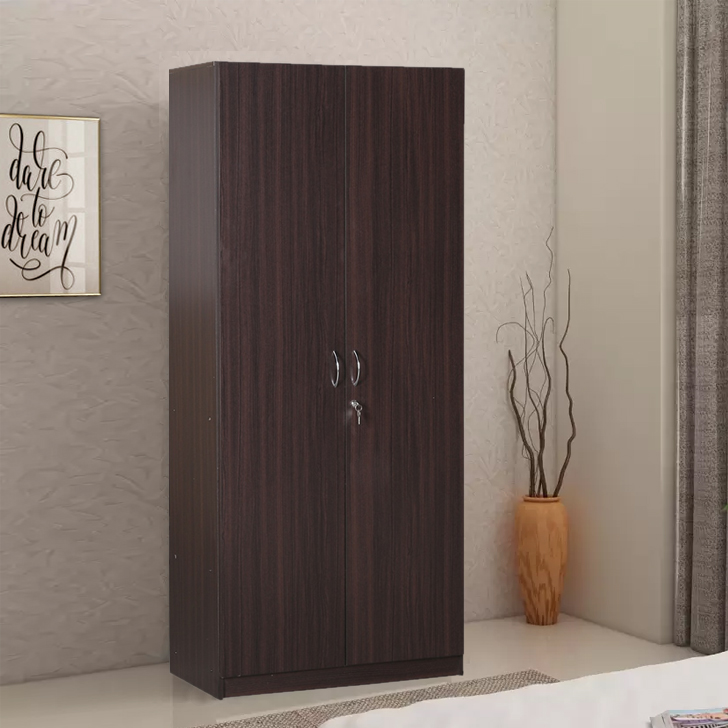 Willy Engineered Wood Two Door Wardrobe in Walnut Colour by HomeTown