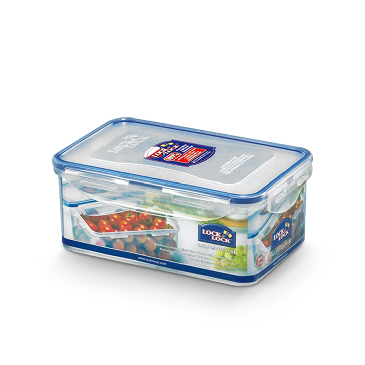 Lock & Lock Classics Rectangular Food Container 1400 ml Polypropylene Containers in Transparent Colour by Lock & Lock
