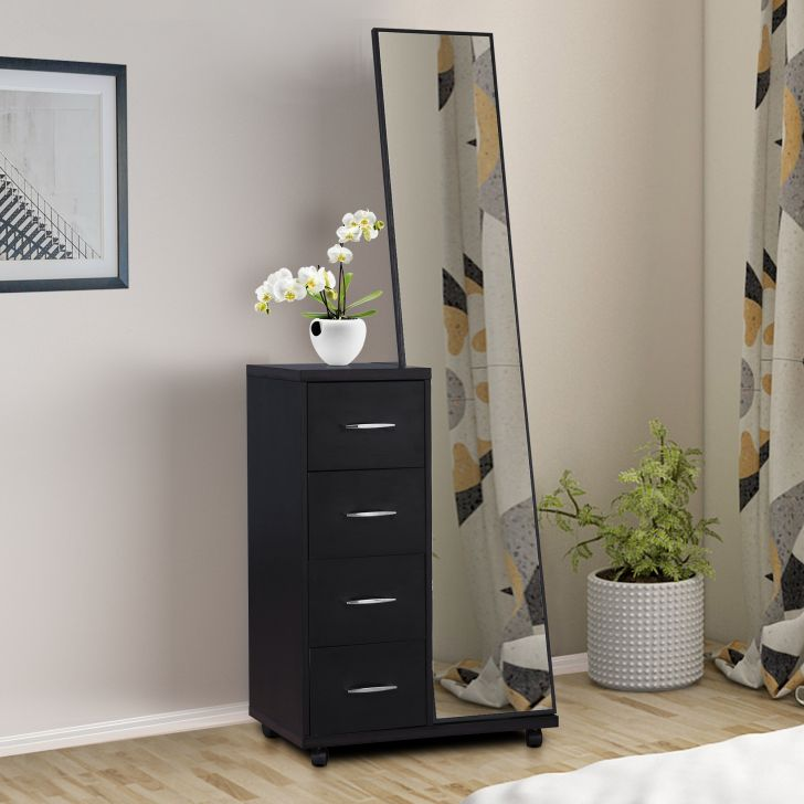 Morgan Engineered Wood Dresser with mirror in Wenge Colour