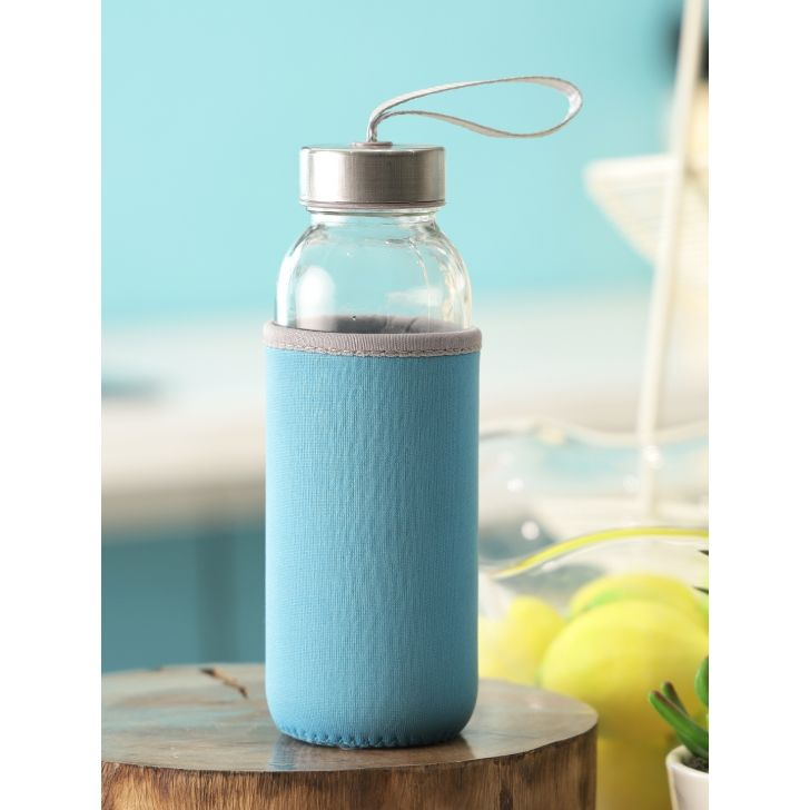 Glass Bottle 500ml With Pouch by Living Essence