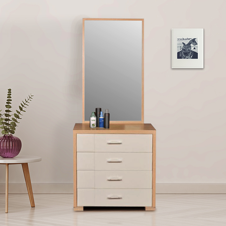 Geo Engineered Wood Dressing Table in Brown Colour by HomeTown