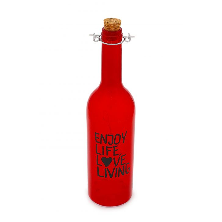 AW17 VENUS LETTERING DECAL BTTL LIME Glass Accent Lighting in Red Colour by Living Essence