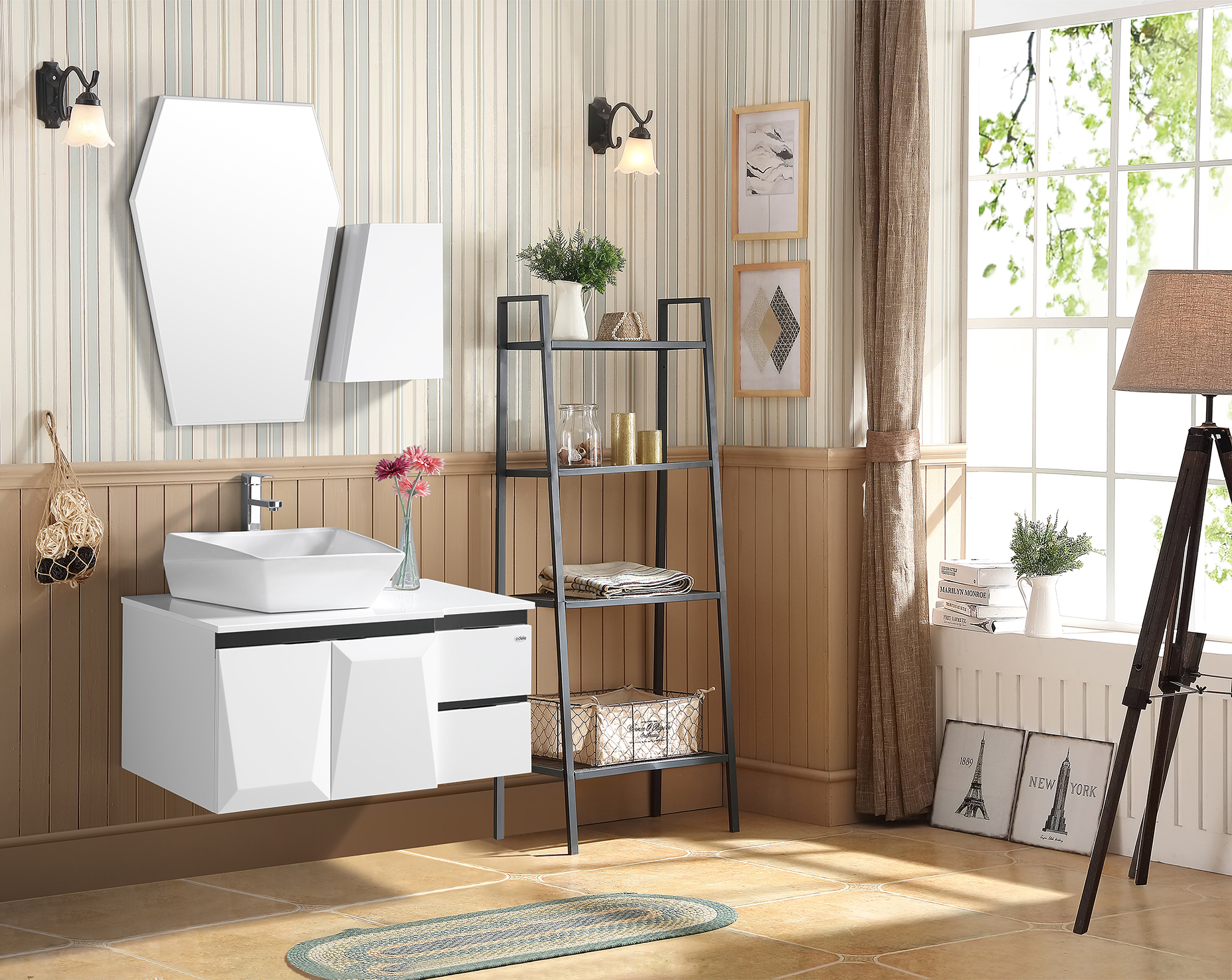 Fab Bath Vanity in White Colour by HomeTown