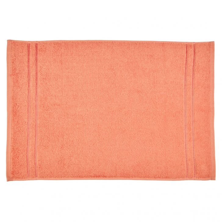 Hand Towel Nora Peach Cotton Hand Towels in Cotton Colour by Living Essence