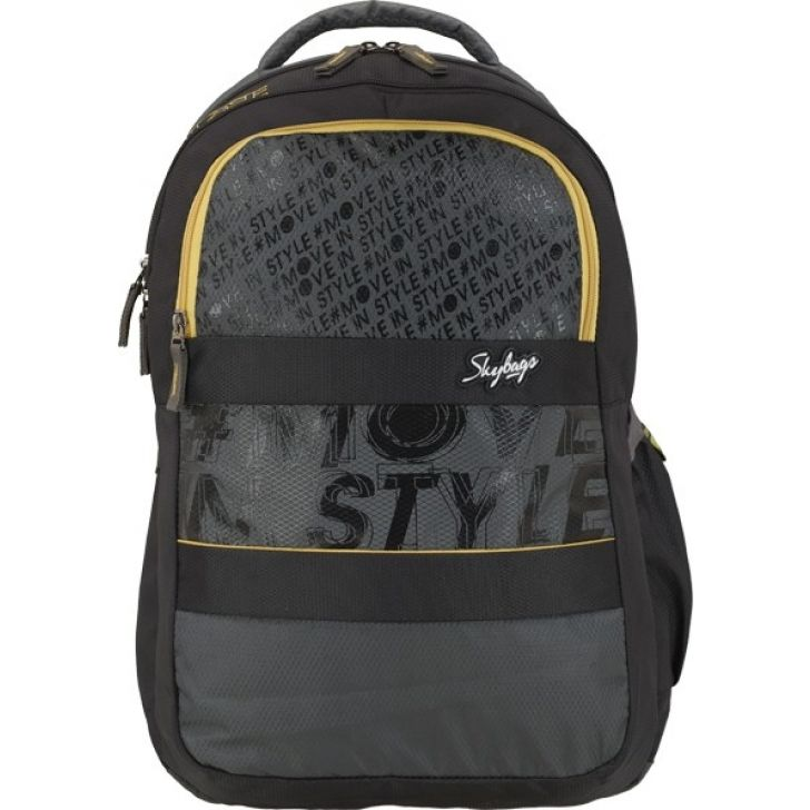 Vader Polyester Laptop Backpack in Grey Colour by Skybags