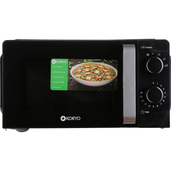 Solo Microwave Oven - 20 Litres - Black by Koryo