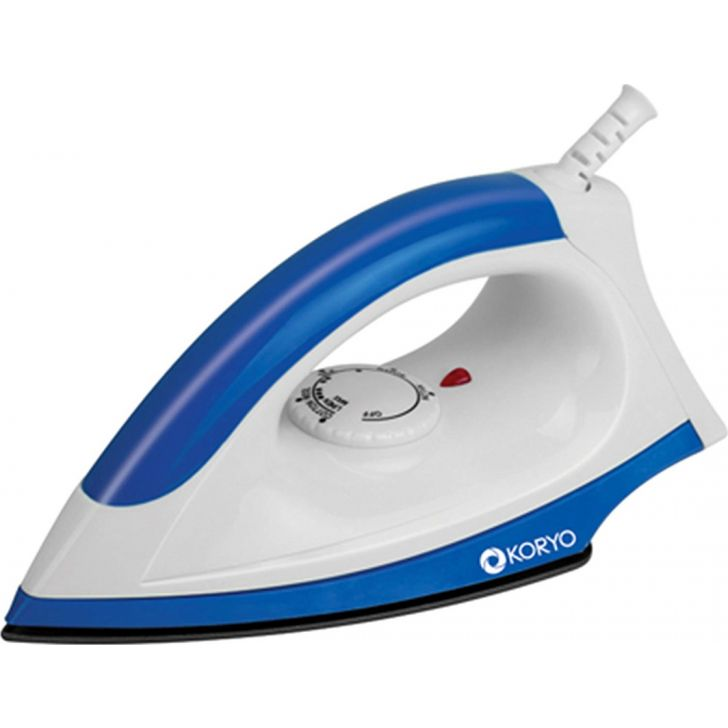 1000 W Non-Stick Dry Iron - Blue by Koryo