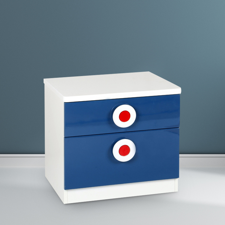 Sailor Engineered Wood Bedside Table in Blue Colour by HomeTown