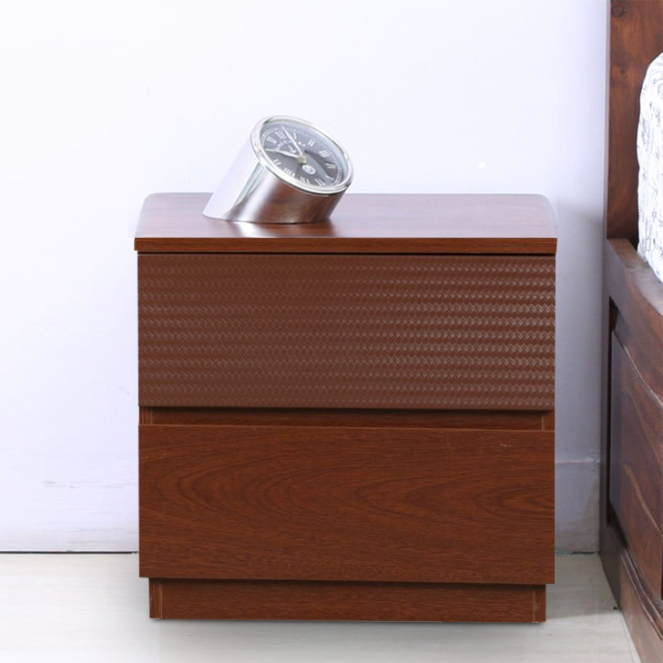 Houston Engineered Wood Bedside Table in Walnut Colour by HomeTown