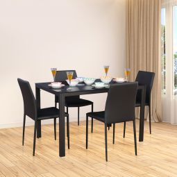 16c57b0f7e Modric Mild Steel Four Seater Dining Set in Black Colour by HomeTown