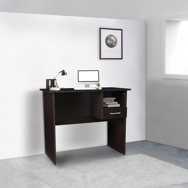 Sparta Engineered Wood Study Table in Wenge Colour