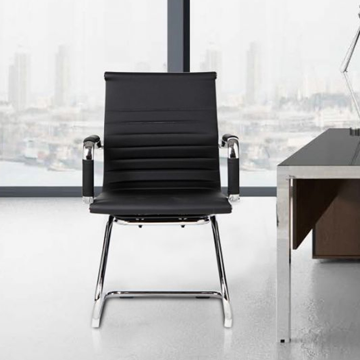Astra Fabric Office Chair in Pu & Nylon Colour by HomeTown