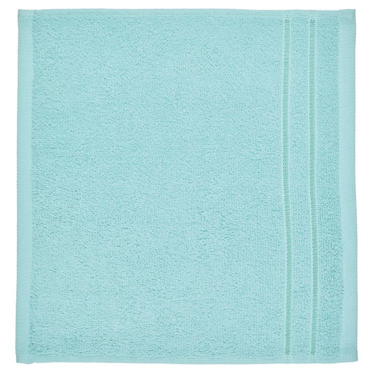 Face Towel Nora Aqua Cotton Face Towels in Cotton Colour by Living Essence
