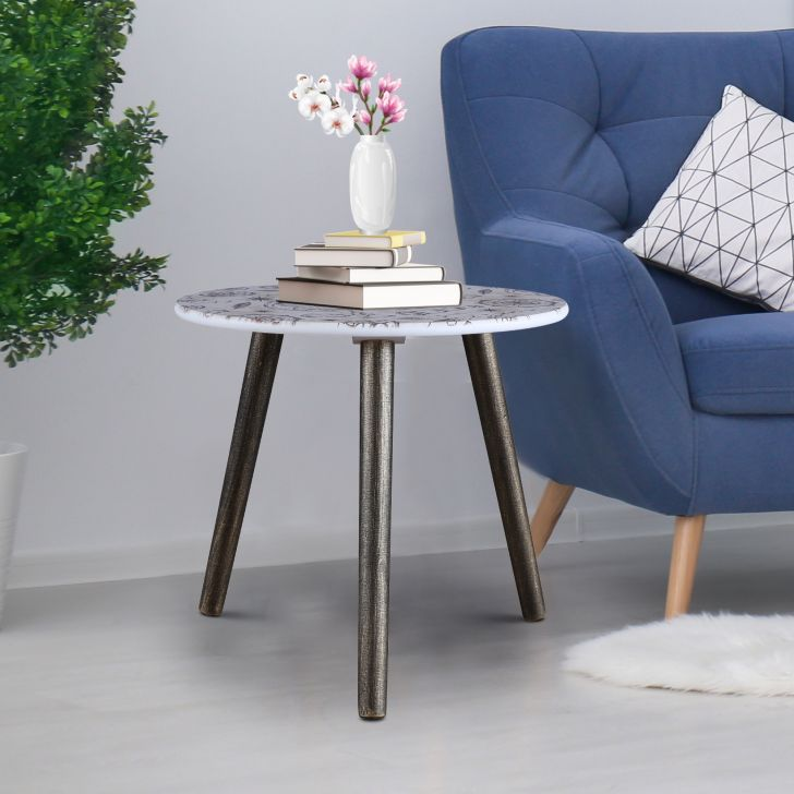 Ardina Engineered Wood Side Table in Beige Colour